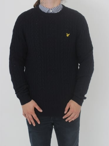 Cable Jumper - Navy