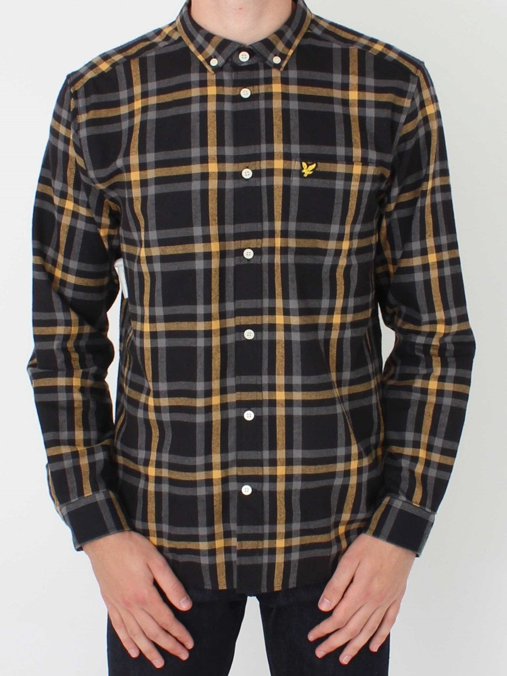 086de4bbd459 Lyle and Scott Check Flannel Shirt in Black