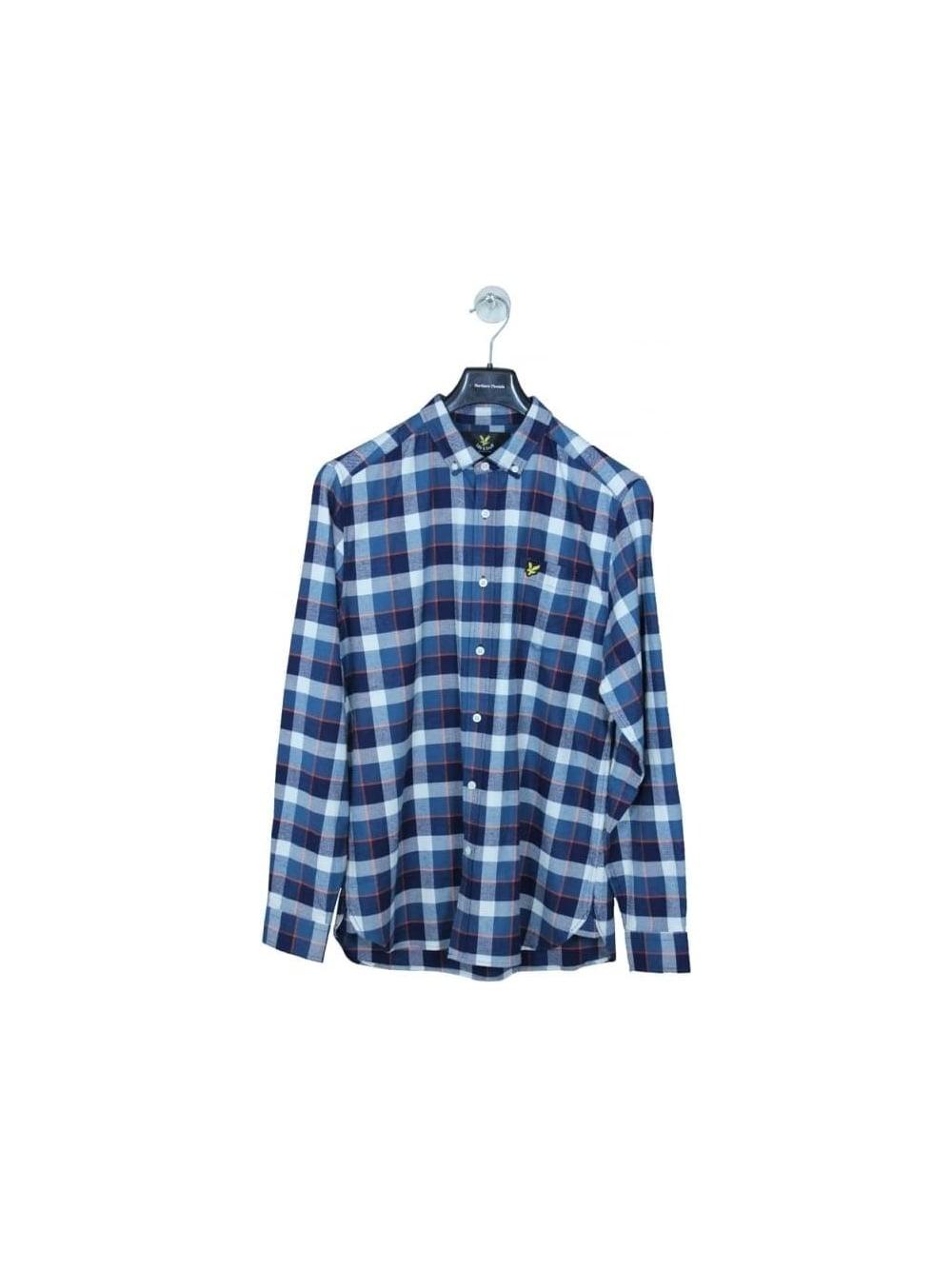 85c90de8b86f Lyle   Scott Check Flannel Shirt in Off White - Northern Threads