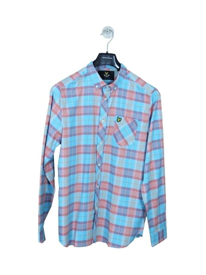 Lyle and Scott Check Shirt - Caribbean