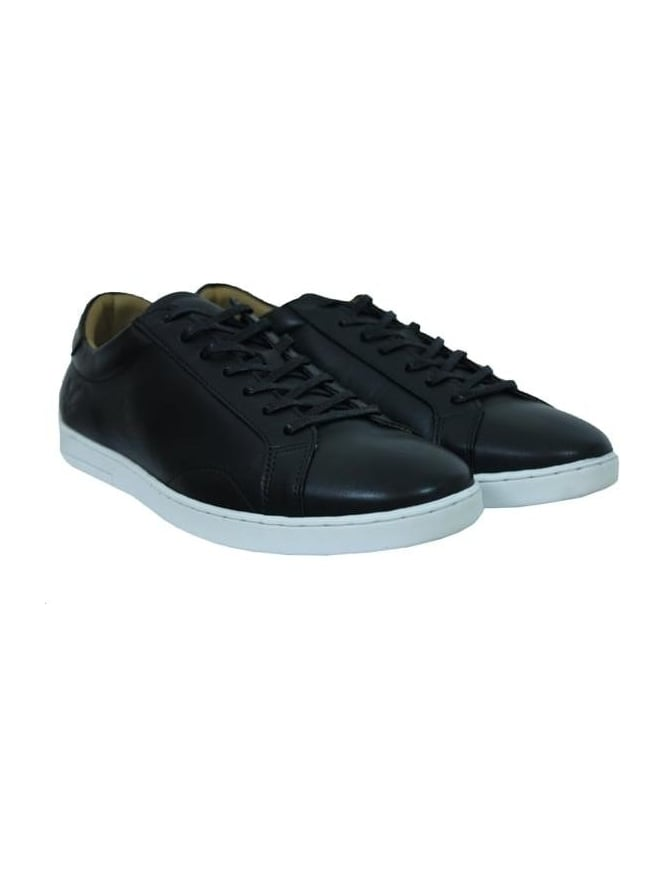 Lyle and Scott Findon Leather Plimsoll - Dark Blue