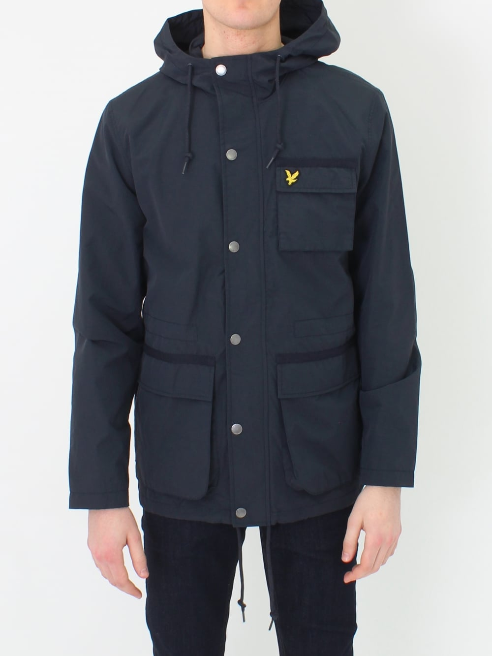 lyle scott hooded jacket in dark navy northern threads. Black Bedroom Furniture Sets. Home Design Ideas