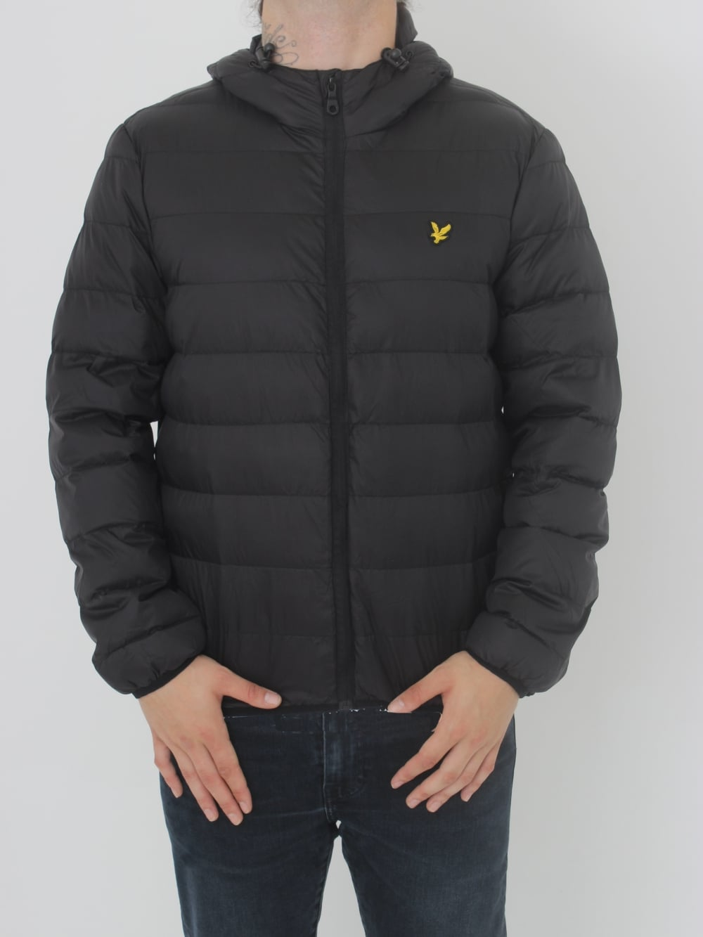 Lyle   Scott Lightweight Puffer Jacket in Black - Northern Threads bee671a55