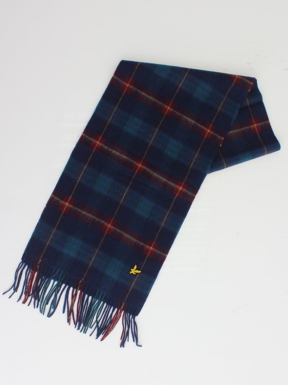 tidlös design grossisthandlare bra priser Lyle & Scott Woven Tartan Scarf in Navy - Northern Threads