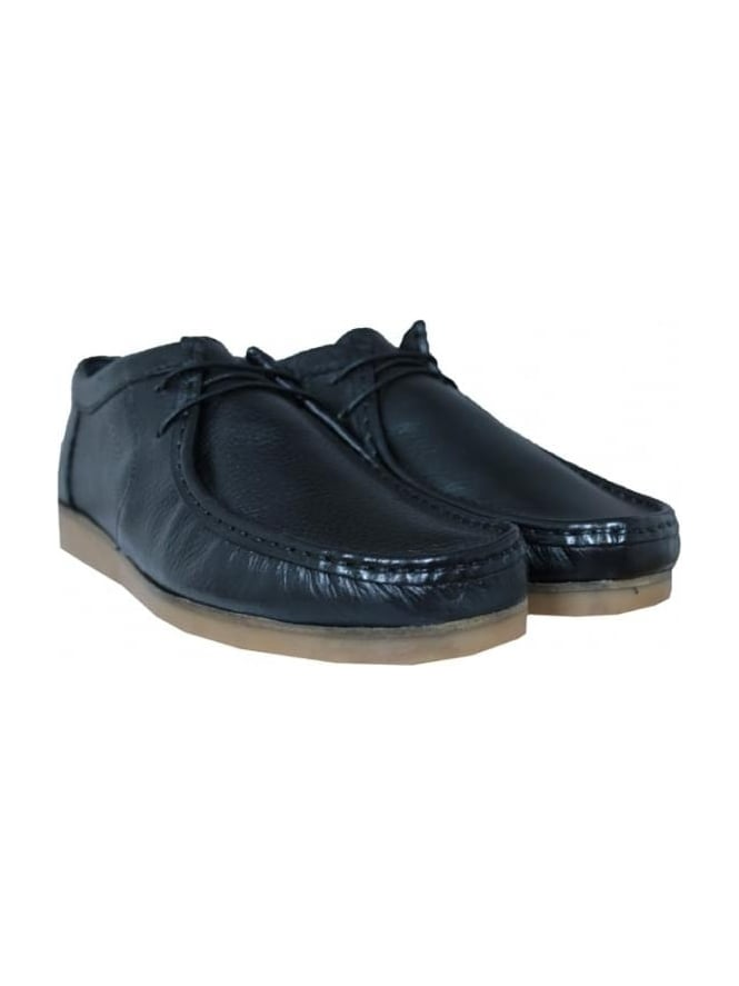 Lyle and Scott Nevis Leather Plimsoll - Black