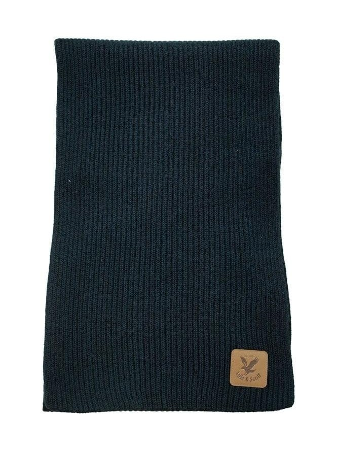 Lyle and Scott Ribbed Scarf - Black