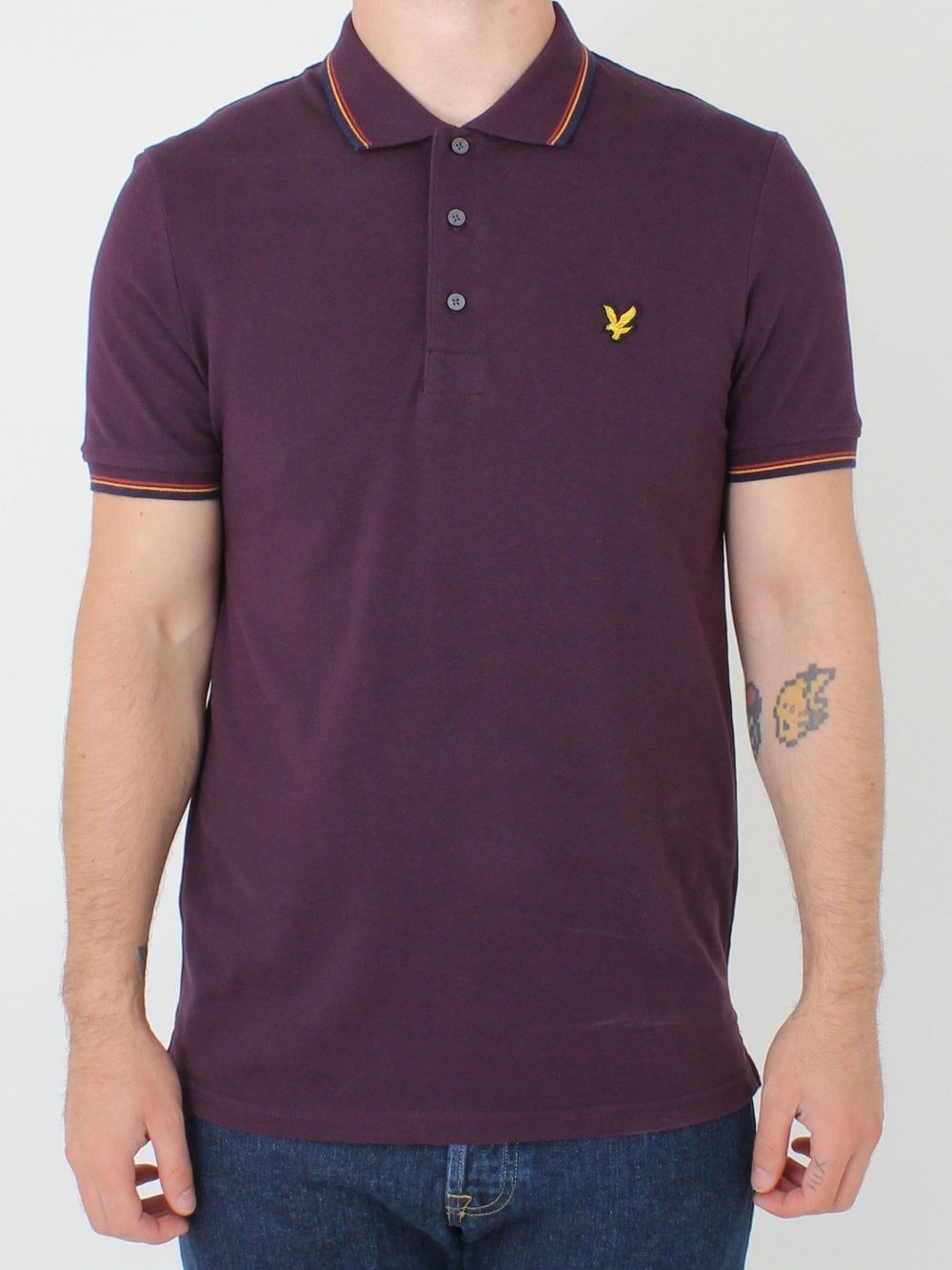 amp; Plum Lyle In Tipped Polo Scott ZwZqCd