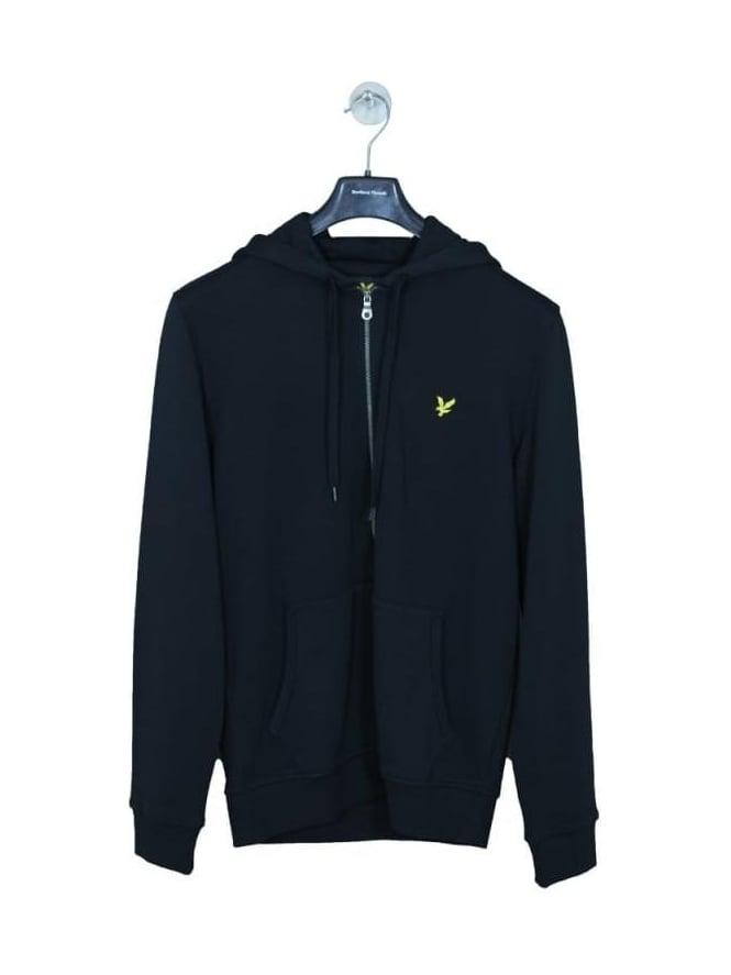 Lyle and Scott Zip Through Hoody - Black