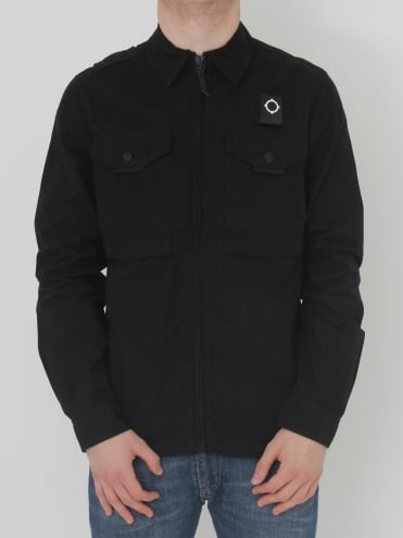 Ma.Strum Pickerel Overshirt in Black
