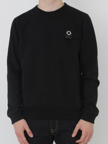 U-Boat Crew Neck Sweat - Jet Black