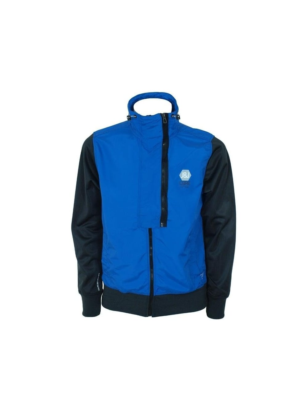 jack jones magnesium sweat jacket in blue buy jack. Black Bedroom Furniture Sets. Home Design Ideas