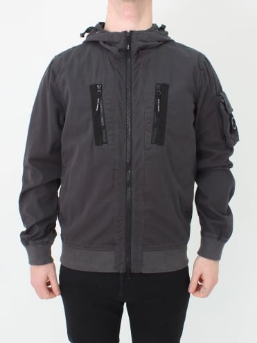 Garment Dyed Bomber - Charcoal