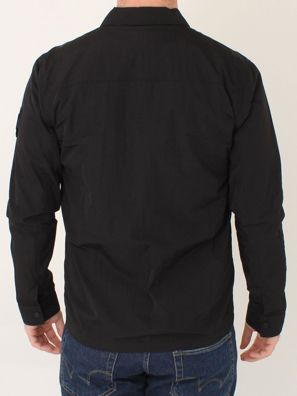 a6efb605c2a Marshall Artist Liquid Bellow Pocket Overshirt in Black
