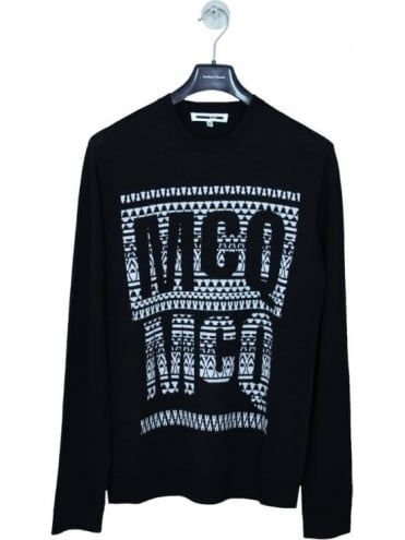 Mirror Image Logo Crew Knit - Black