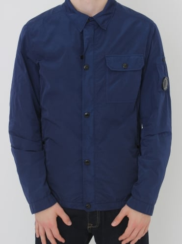 Military Arm Lens Overshirt - Blue Print
