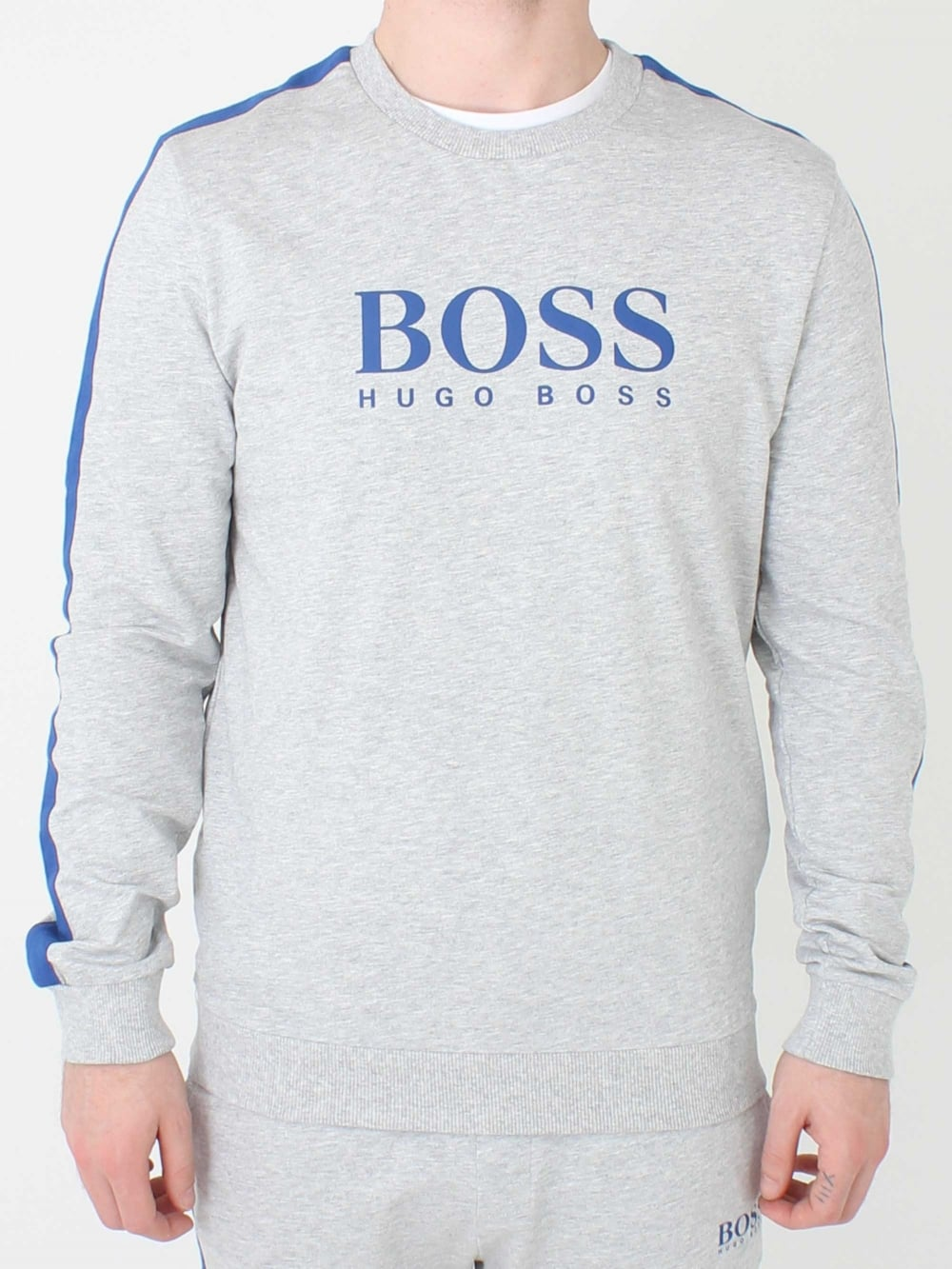 76da933bd Hugo Boss Authentic Sweatshirt in Medium Grey | Northern Threads