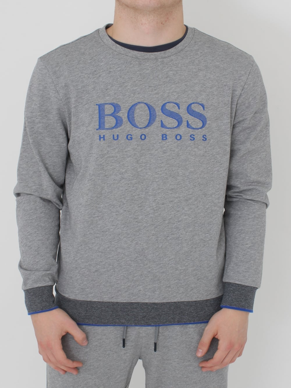 b50ceaf00 HUGO BOSS - Boss Hugo Boss Crew Neck Sweatshirt in Mid Grey ...
