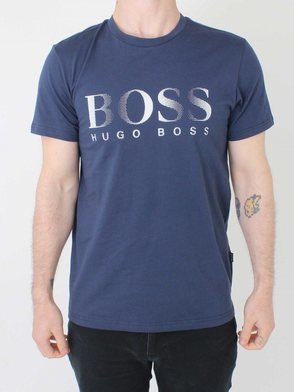 441c4884a Hugo Boss Regular Fit UV Logo T.Shirt in Navy | Northern Threads