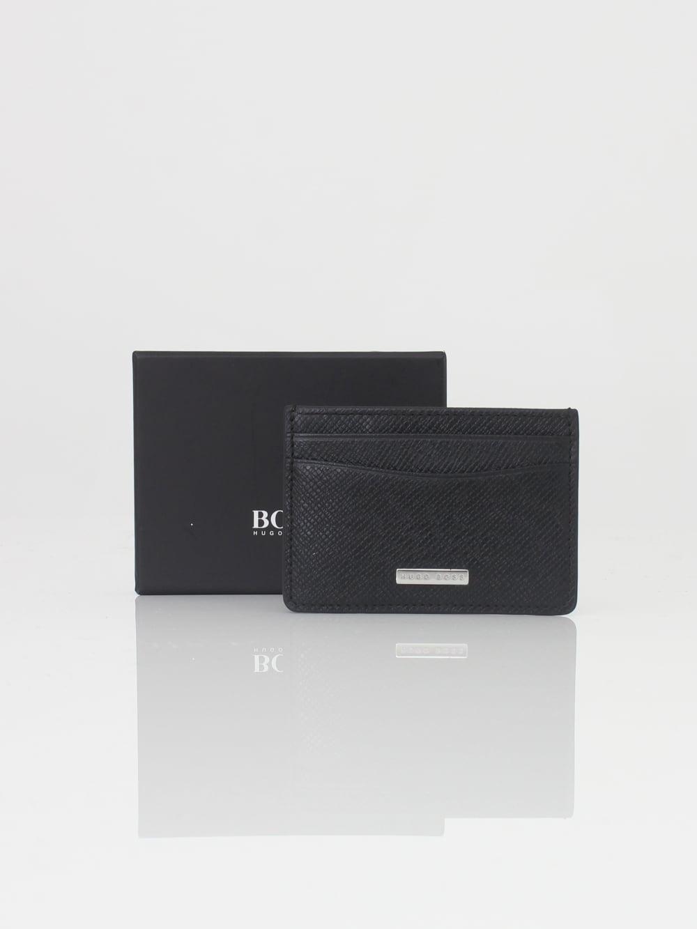e998c0b17c HUGO BOSS Signature Money Clip Wallet in Black - Northern Threads