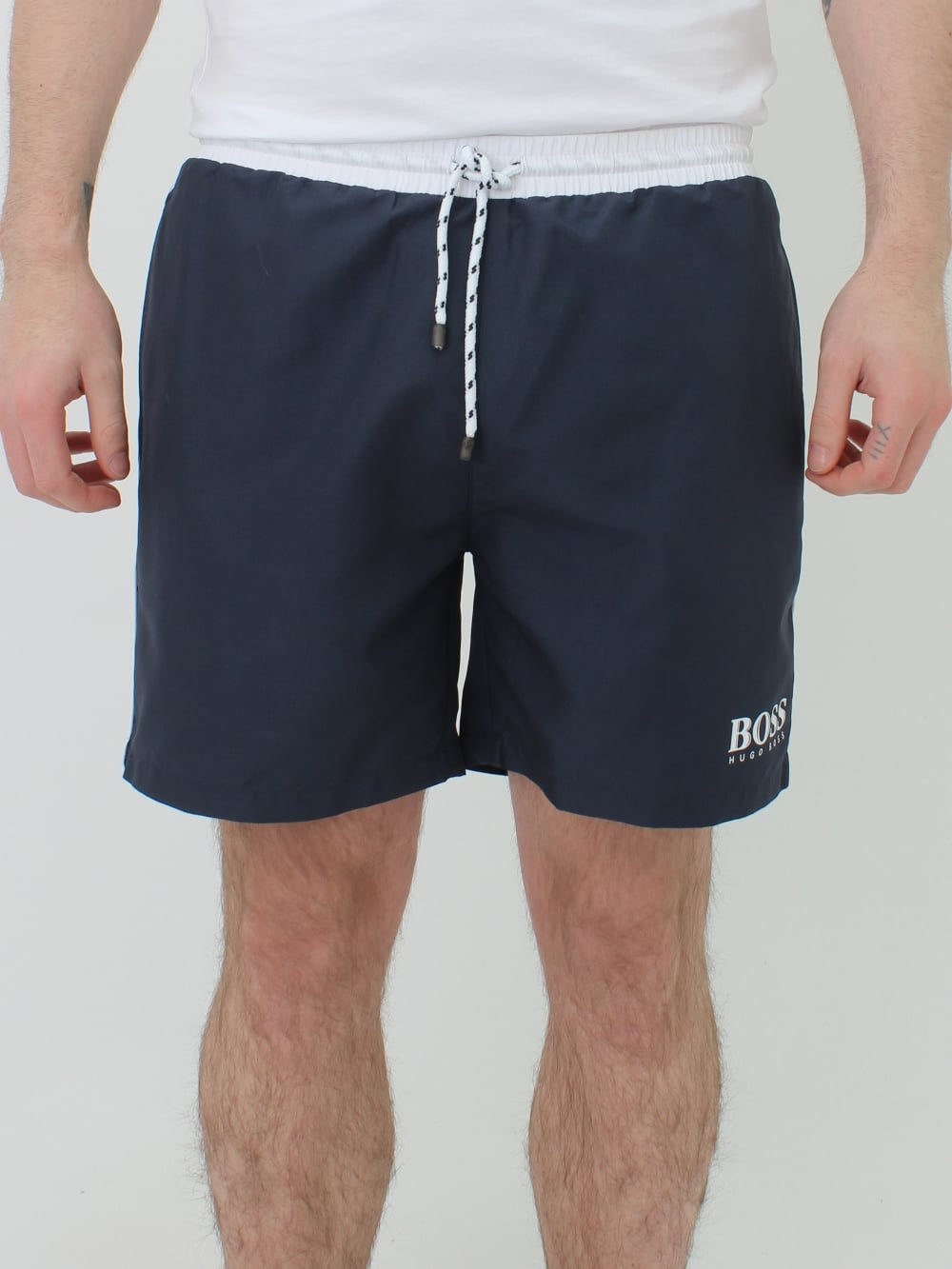 740164491c Hugo Boss Starfish Swim Shorts in Dark Grey | Northern Threads