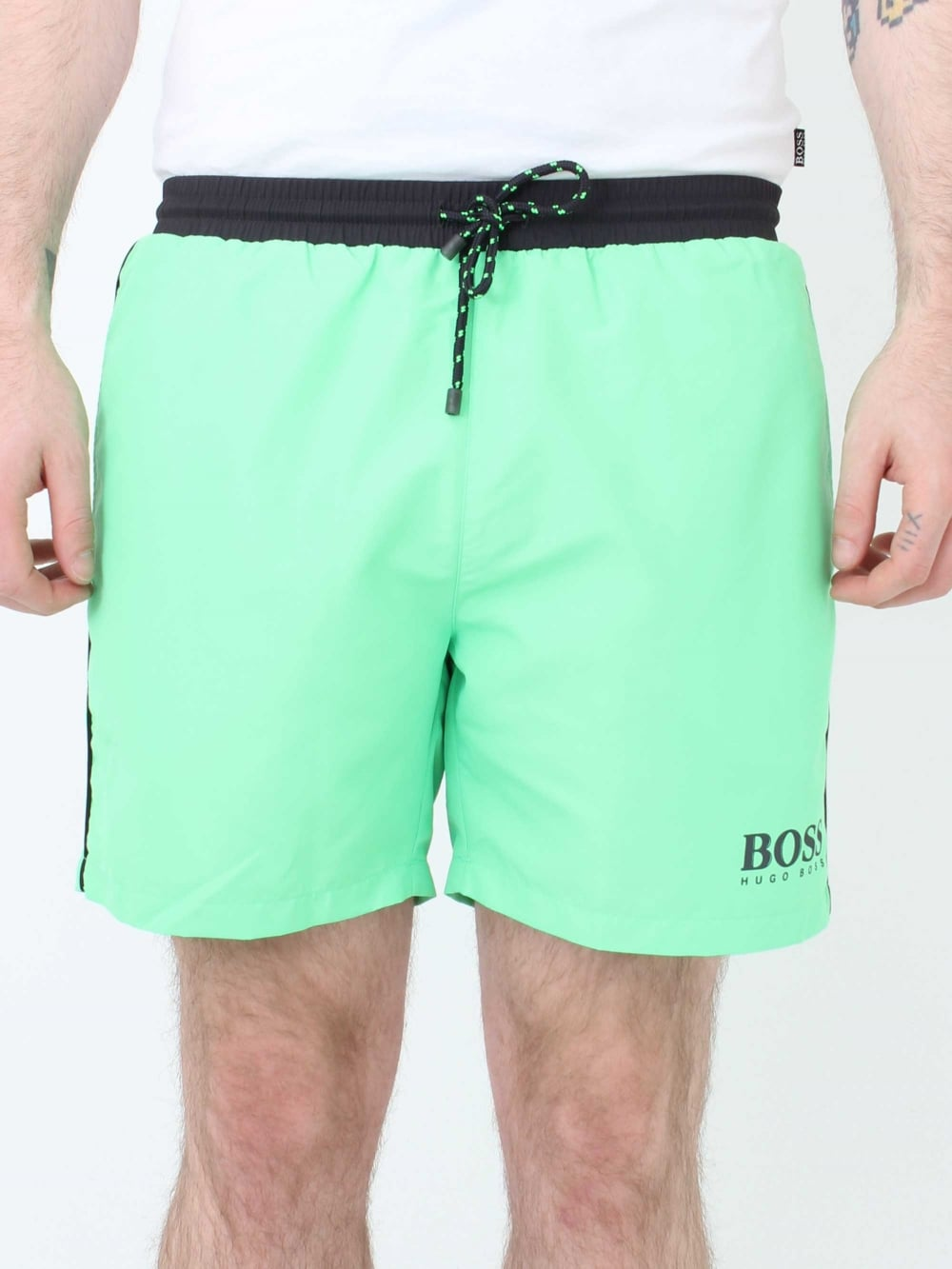 741ec14921 Hugo Boss Starfish Swim Shorts in Light Green | Northern Threads