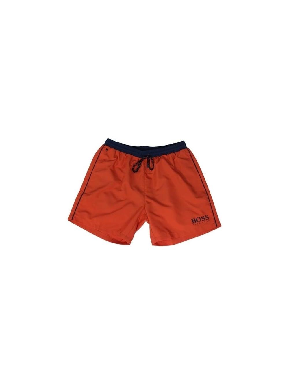 e1cf76bcb Hugo Boss Black Starfish Swim Shorts in Open Orange - Northern Threads