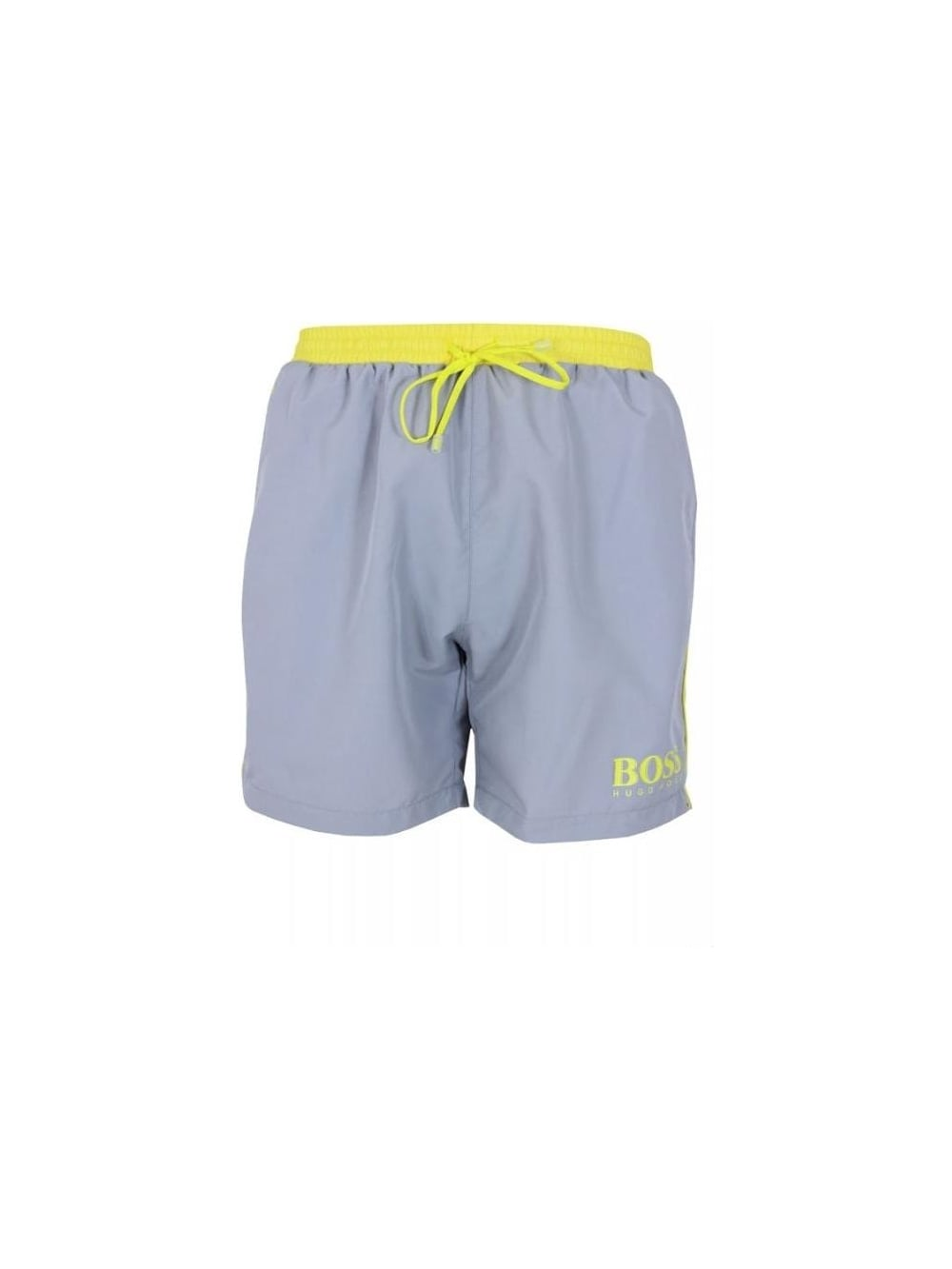 67912b9a07 HUGO BOSS Black Bodywear Starfish Swim Shorts in Silver - Northern ...