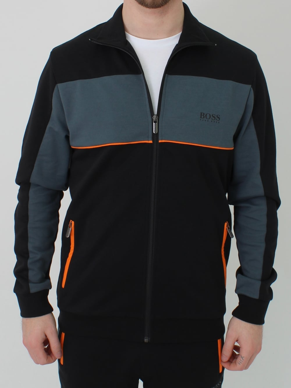ae9224ec Hugo Boss Tracksuit Jacket in Black | Northern Threads