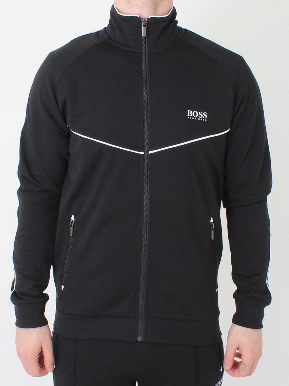 f9046af57 Hugo Boss Tracksuit Jacket in Black | Northern Threads
