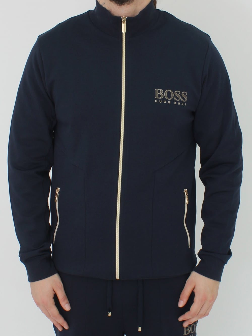 4f8c54e81 Hugo Boss Tracksuit Jacket in Dark Blue - Northern Threads