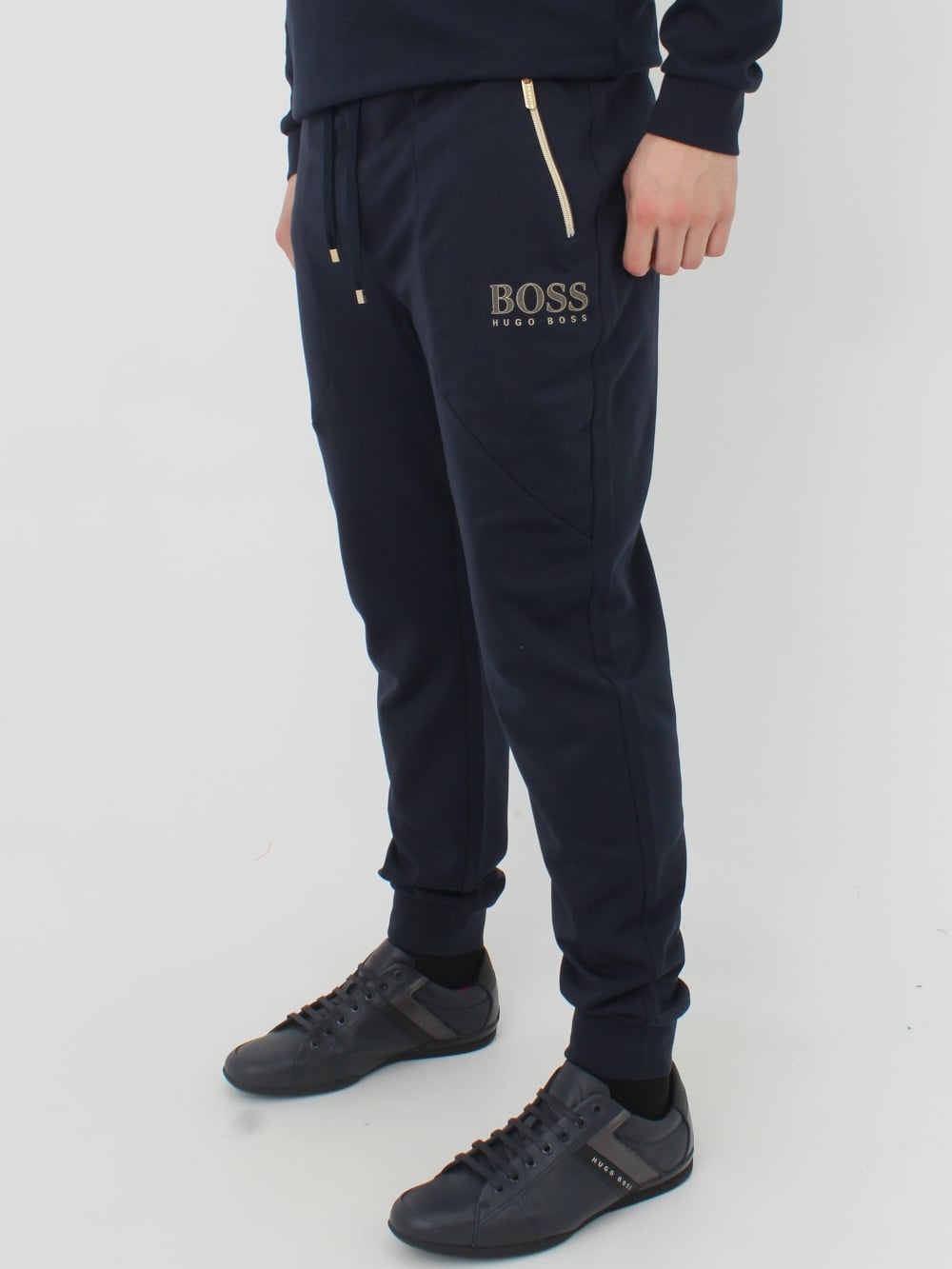 Hugo Boss Logo Tracksuit Pants Blue