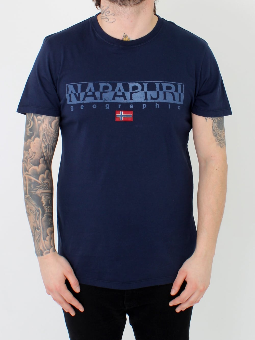 napapijri spariol 1 t shirt in marine northern threads. Black Bedroom Furniture Sets. Home Design Ideas