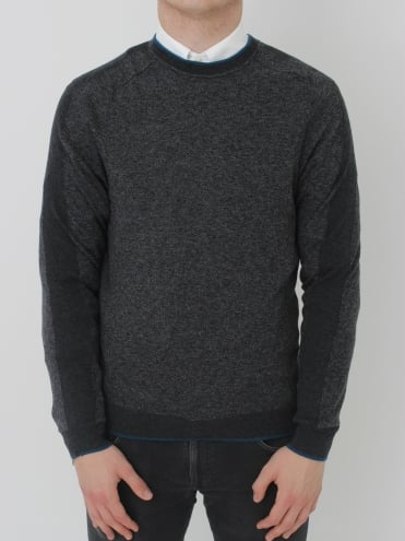 Neapol Sporty Crew Neck Knit - Charcoal