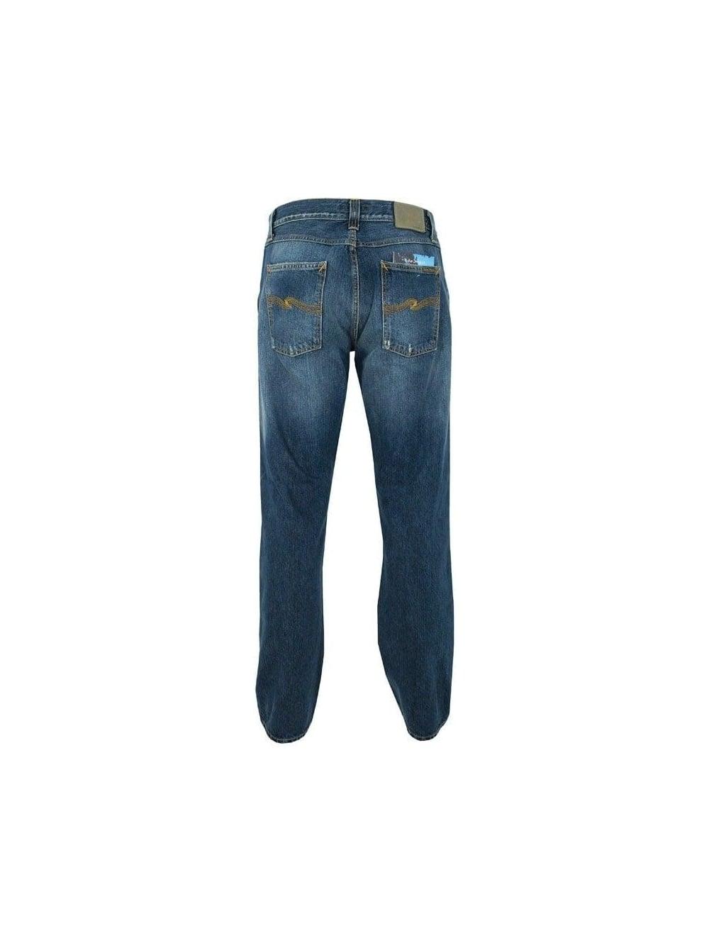 Nudie Jeans Easy Emil Dey Navi Organic Neu !