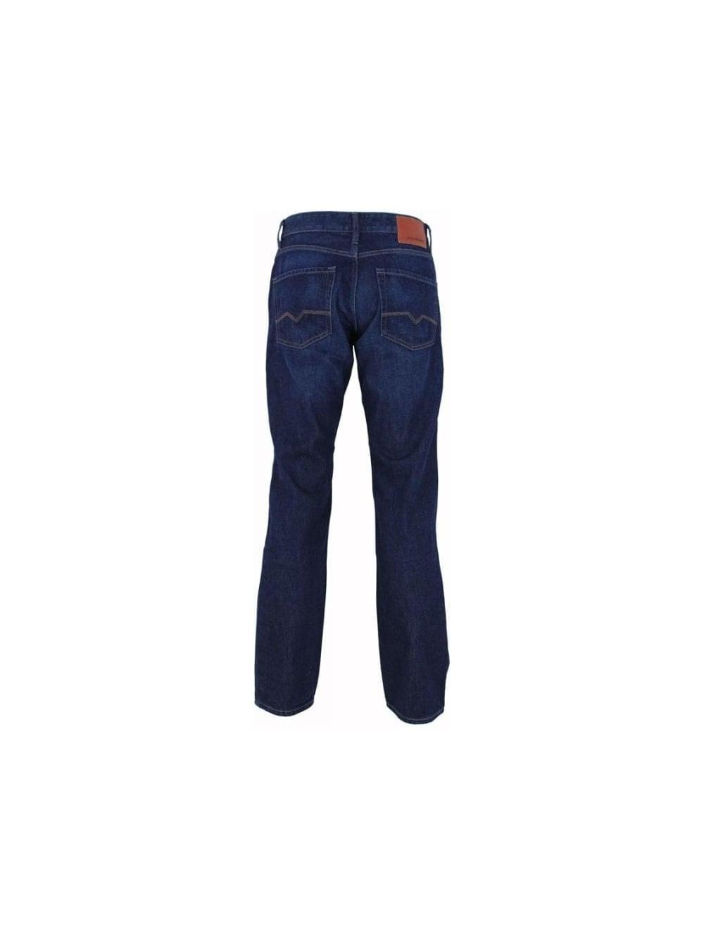 boss orange 25 some reg fit jeans in navy northern threads. Black Bedroom Furniture Sets. Home Design Ideas