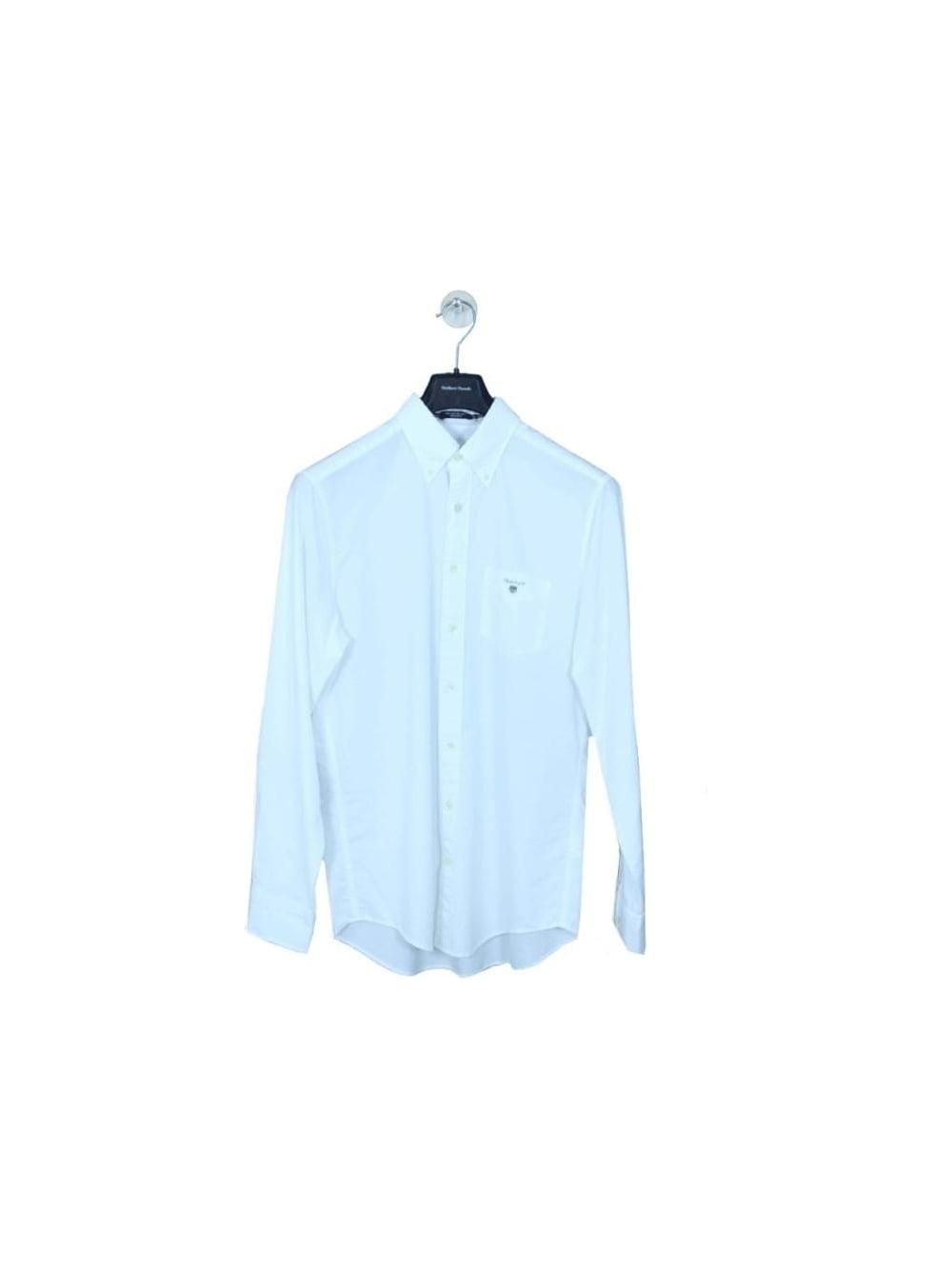 Gant oxford button down shirt in white northern threads for White button down oxford shirt