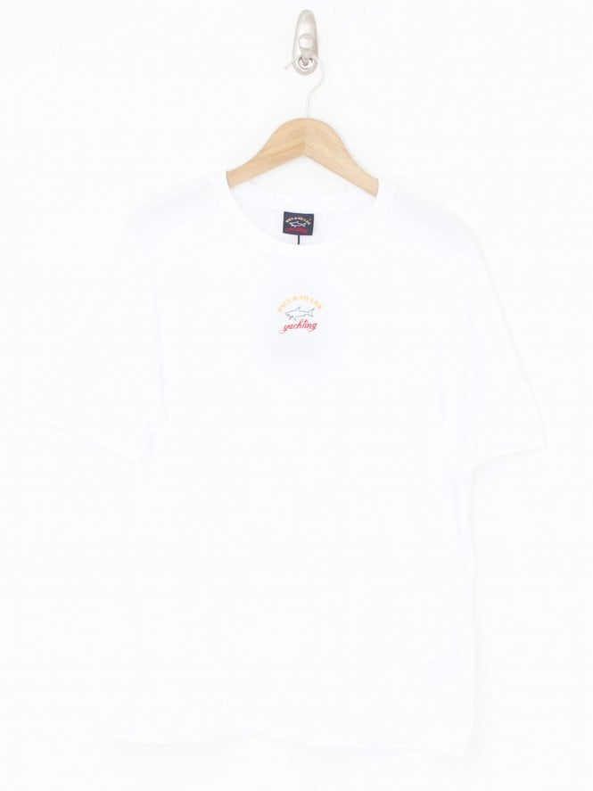 Paul and Shark Central Logo Crew T.Shirt - White