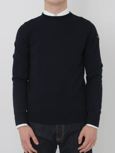 Cool Touch Crew Neck Knit - Navy