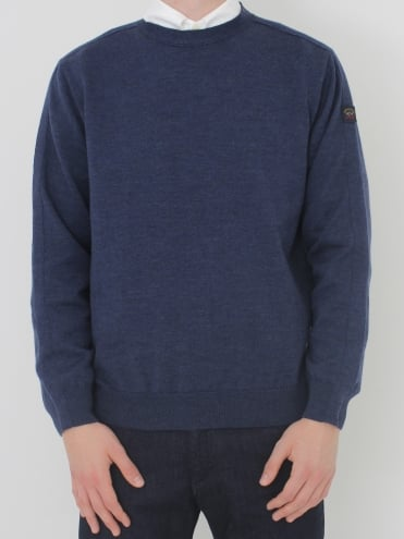 Crew Neck Knit - Dark Blue