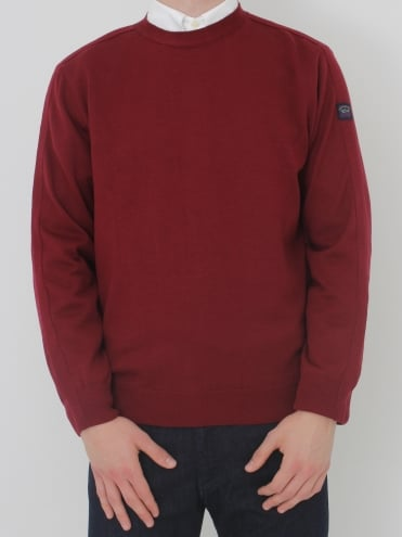 Crew Neck Knit - Dark Red