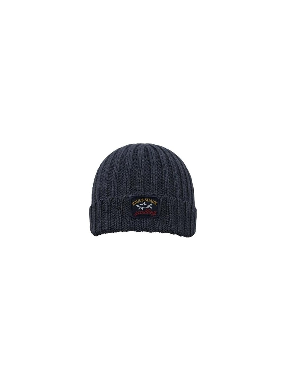 a59431256f5 Paul   Shark Knitted Hat in Grey - Northern Threads