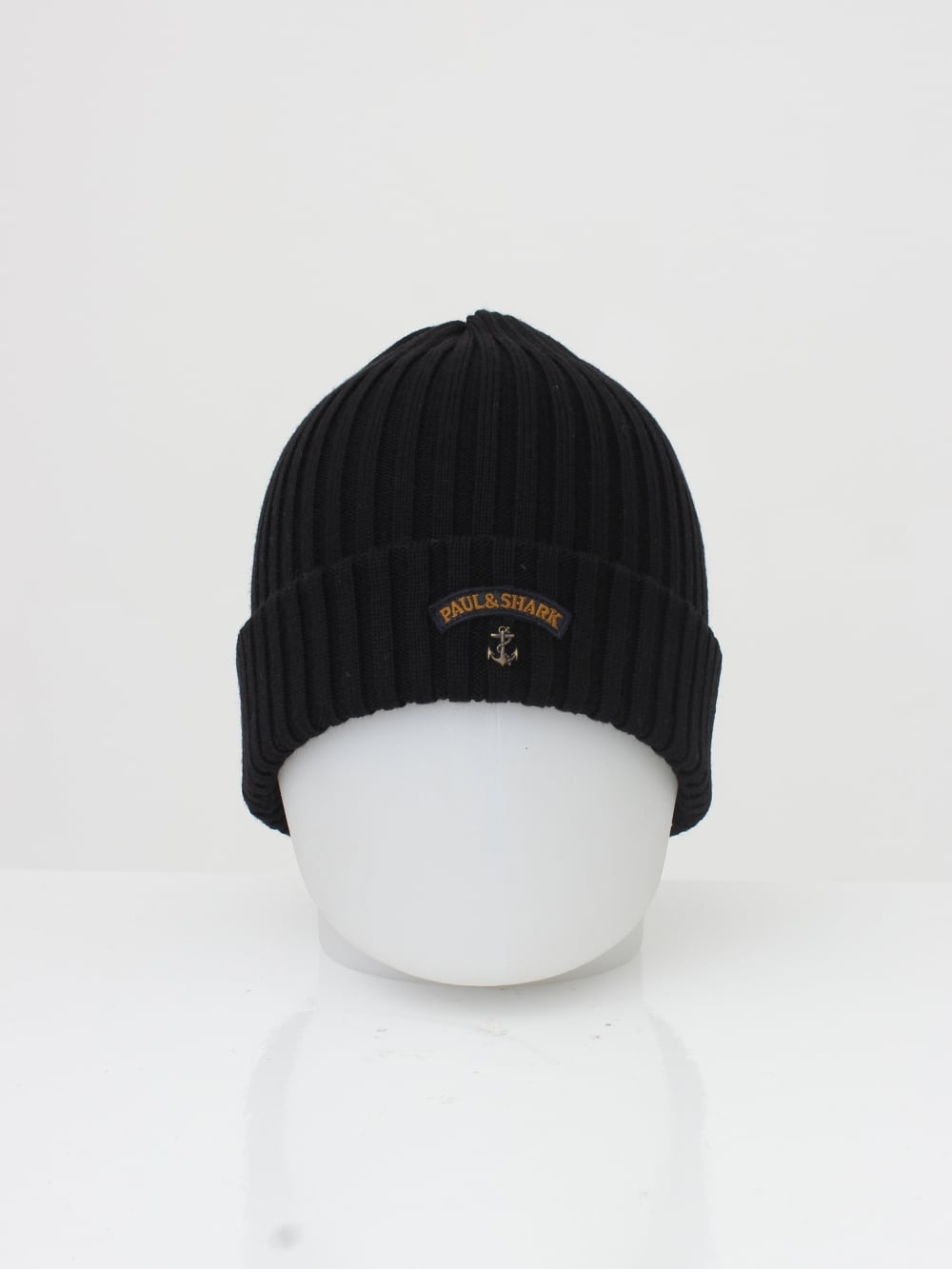 e01ee47033ac5 Paul   Shark Knitted Logo Beanie in Black - Northern Threads
