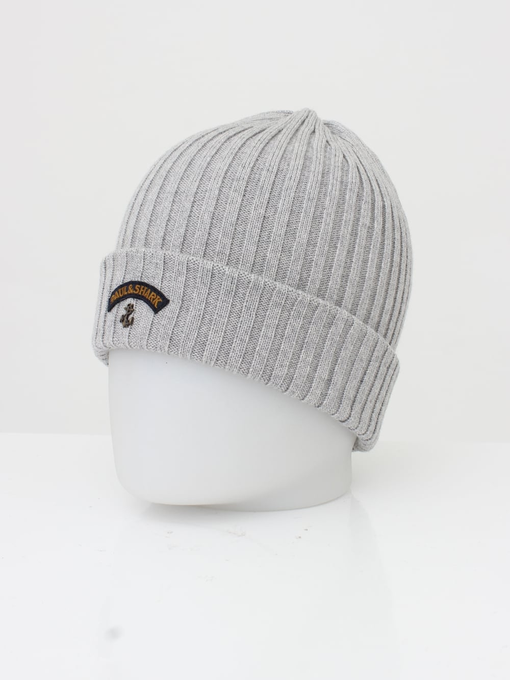 0728268c1e4 Paul   Shark Knitted Logo Beanie in Grey - Northern Threads