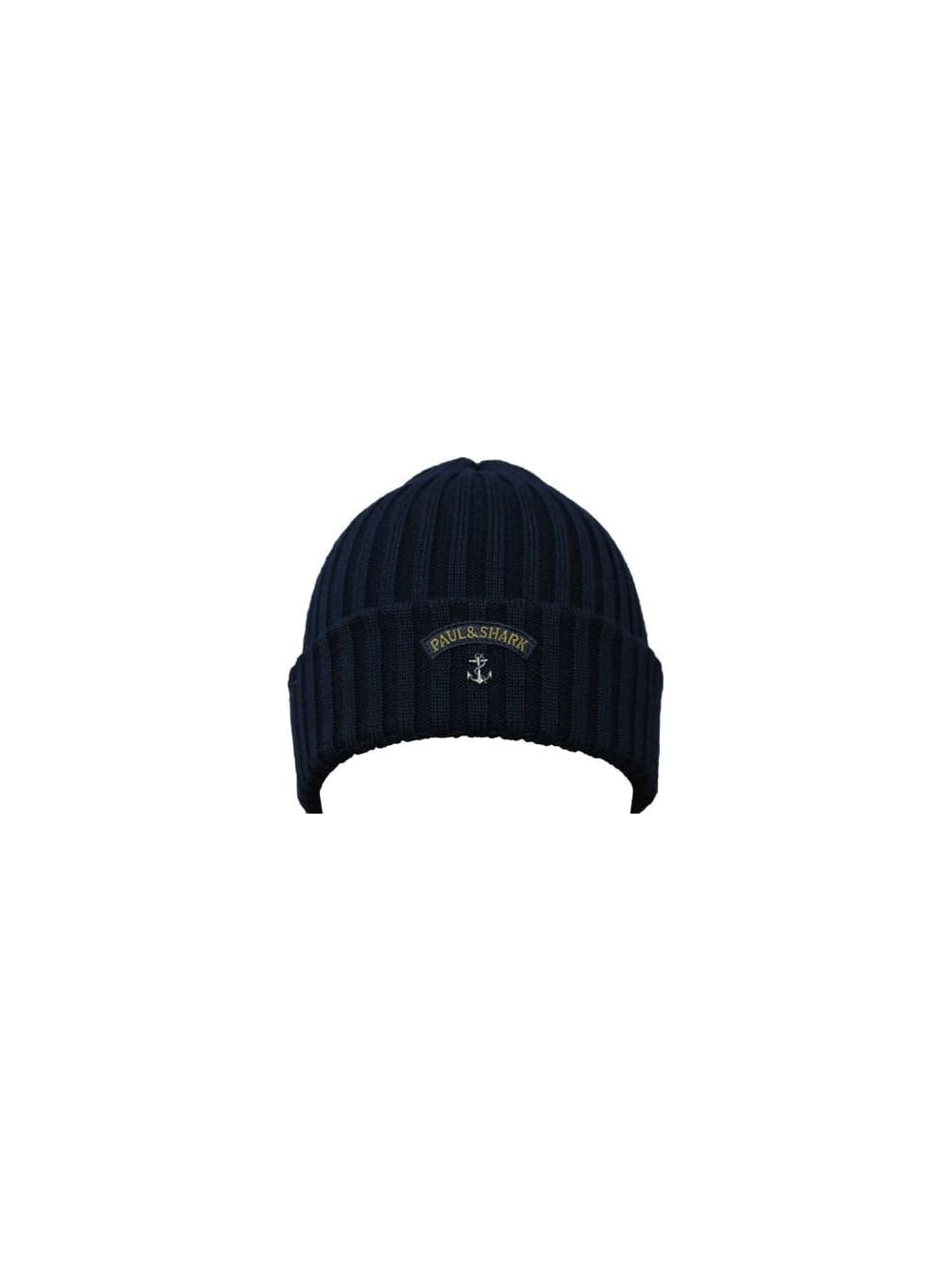 f3168df3a98 Paul   Shark Knitted Logo Beanie in Navy - Northern Threads