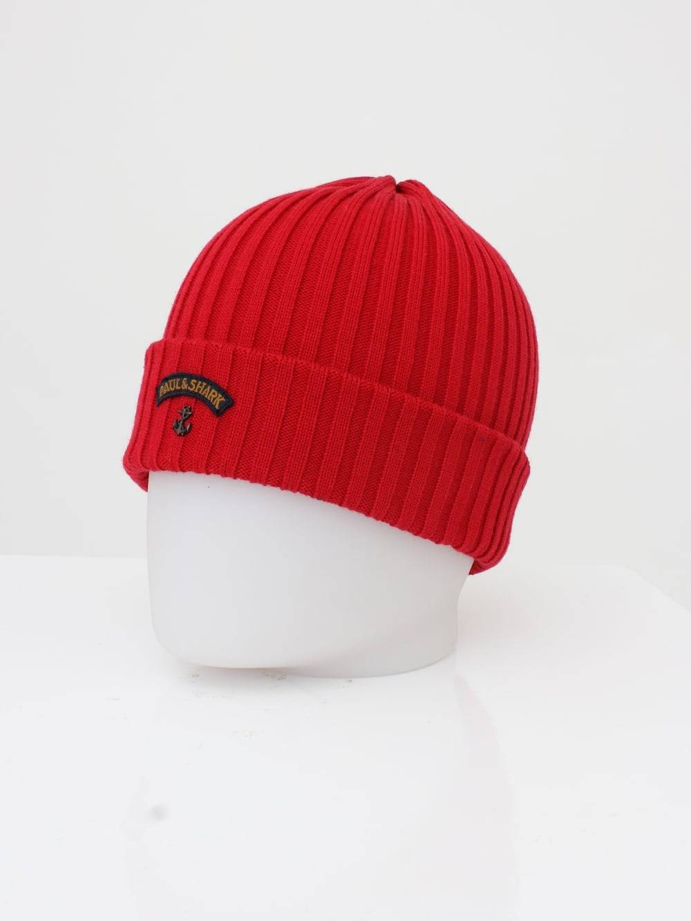 Paul   Shark Knitted Logo Beanie in Red - Northern Threads 315795d90a1