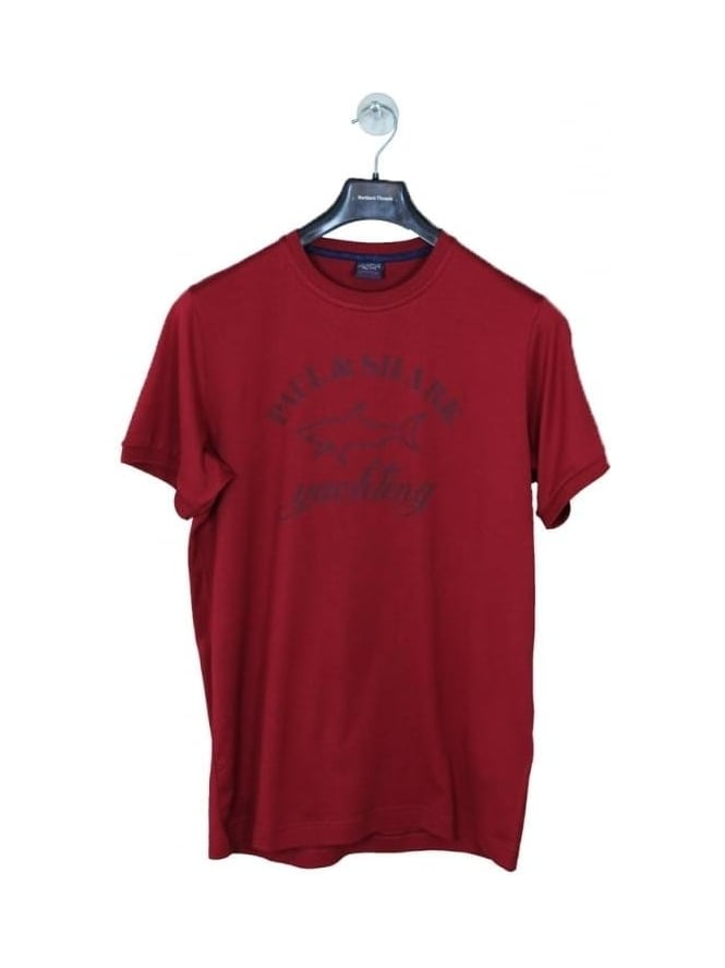 Paul and Shark Oversized Logo T.Shirt - Red