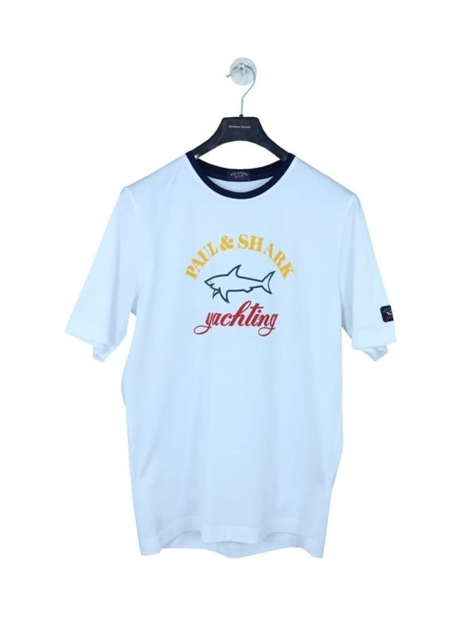 Paul and Shark Oversized Logo T.Shirt - White