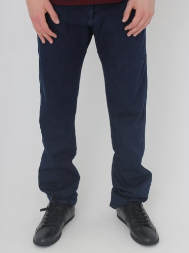 Pocket Logo Jeans - Blue Denim