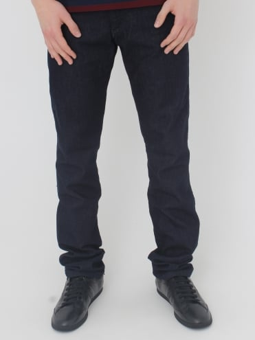 Pocket Logo Jeans - Dark Denim