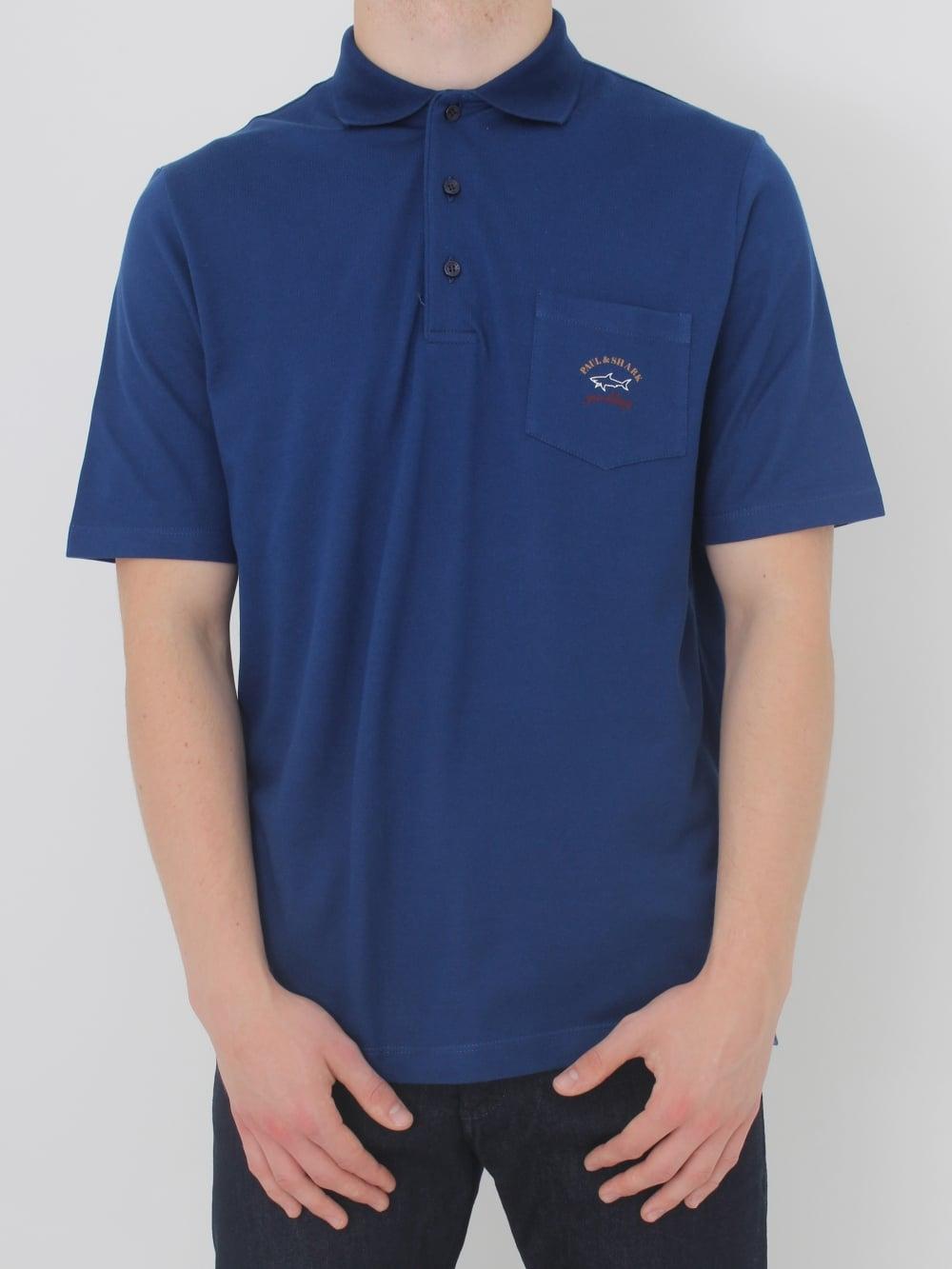 Paul   Shark Pocket Polo in Blue - Northern Threads ec7325cec960